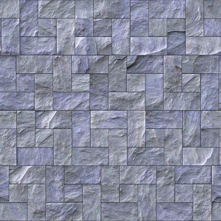 Seamless slate stone wall or path pattern that tiles seamlessly. Stockfoto