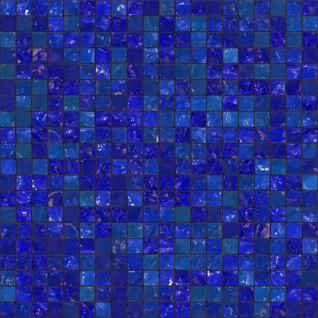 bad fliesen: Blue Badezimmer Fliesen Muster, das als Muster nahtlos nebeneinander anordnen. Lizenzfreie Bilder