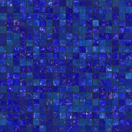flooring: Blue bathroom tiles pattern that tile seamlessly as a pattern. Stock Photo