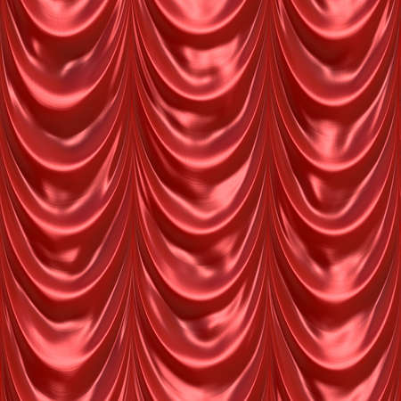An illustration of a silky satin red fabric or curtain. This tiles seamlessly as a pattern in any direction.