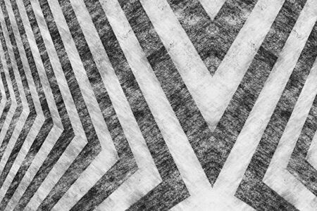 A black and white hazard stripes background with an aged vintage texture. Stock Photo - 9019230