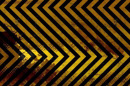 A hazard stripes texture with extreme grunge effects. Reklamní fotografie