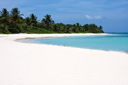 The gorgeous white sand filled Flamenco beach on the Puerto Rican island of Culebra. photo