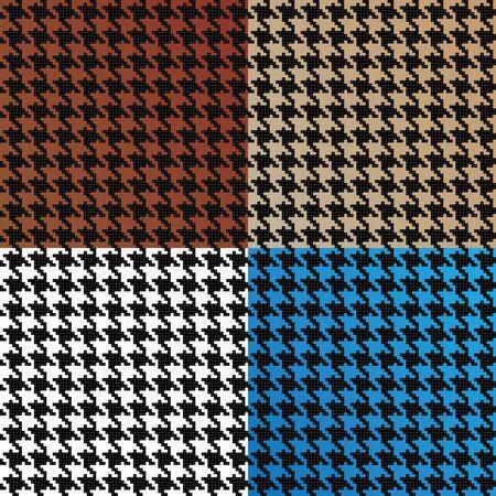 diminuto: Patrones de moda pata de gallo de peque�os cuadrados en una variedad de diferentes colores que mosaico perfectamente como un patr�n. Este vector es totalmente editable. Vectores