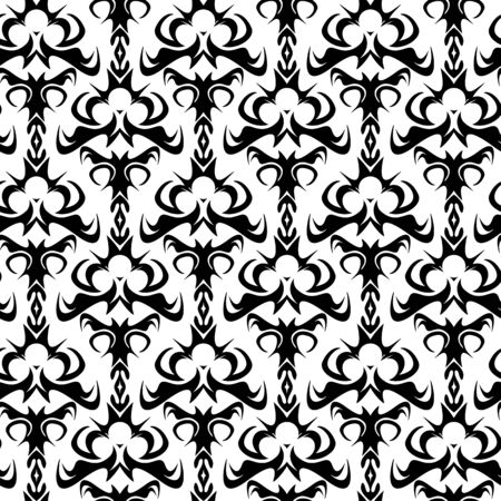 A seamless damask pattern or texture in vector format Vector