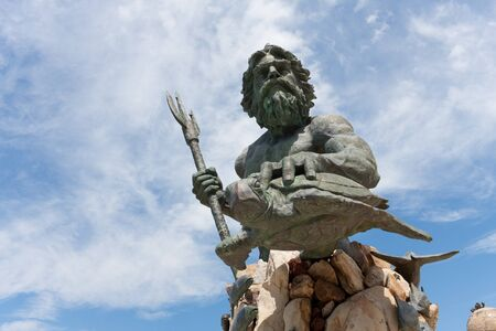 king neptune: The large public statue of King Neptune  that welcomes all to Virginia Beach in Virginia USA.