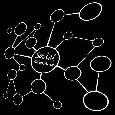 referidos: Un flujo de vac�o diagrama de tabla con los c�rculos de conexi�n entre s�. A grandes medios de comunicaci�n social, o el concepto de redes sociales. Agrega tu propio texto o im�genes.
