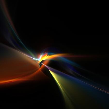Een gloeiend fractal design dat werkt uitstekend als achtergrond of achtergrond. Stockfoto