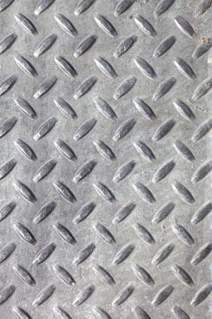 Close-up van de echte diamant plaat metaal materiaal. Dit is het echte werk en niet een illustratie. Stockfoto