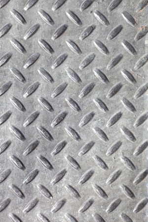Closeup of real diamond plate metal material. This is the real thing and not an illustration. Stock Photo