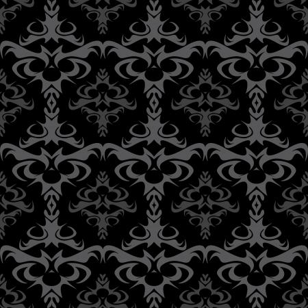 gothique: Un motif damass� sans soudure ou la texture au format. Illustration