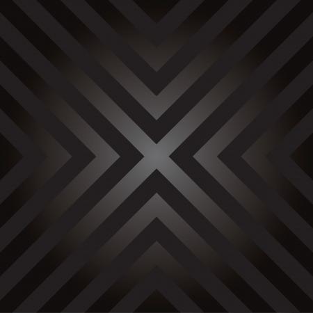 Naadloos ontwerp met X-vormige gevaar gestreepte lijnen. Stock Illustratie