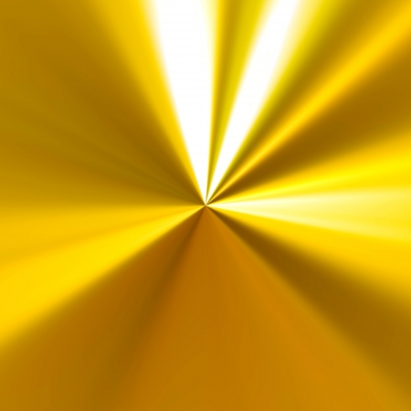 metallic background: A shiny golden background with radial highlights.