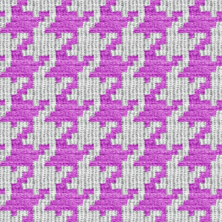 Pink and white seamless houndstooth pattern or texture. photo