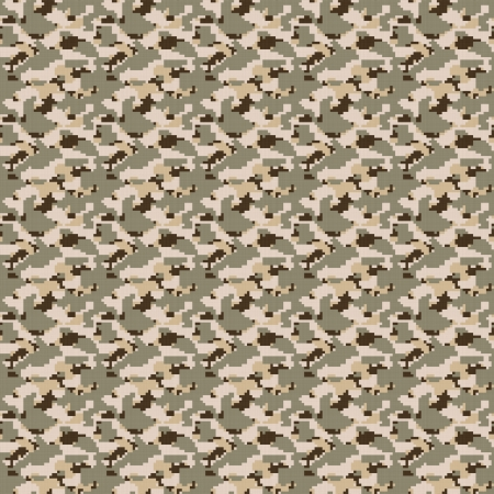 Brown desert colored military camouflage texture that tiles seamlessly as a pattern in any direction. photo