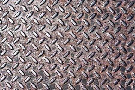 Closeup of real diamond plate metal material.  Stock Photo - 20209313