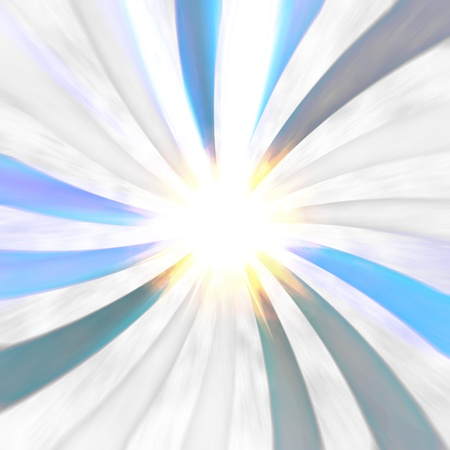 hypnotized: An abstract radial burst illustration speeding toward a central point with copy space. Stock Photo