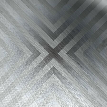 hazard: Brushed aluminum texture with triangular hazard stripe chevron lines.