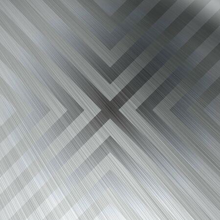 hazard stripes: Brushed aluminum texture with triangular hazard stripe chevron lines.