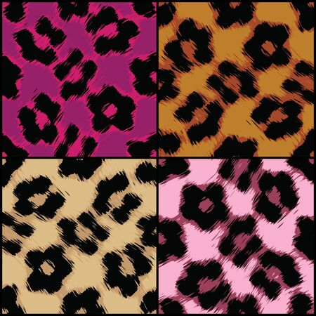 seamlessly: Seamlessly tileable leopard print textures in a variety of colors.