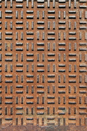 Closeup of real diamond plate metal plate with rust. Stock Photo - 21717384