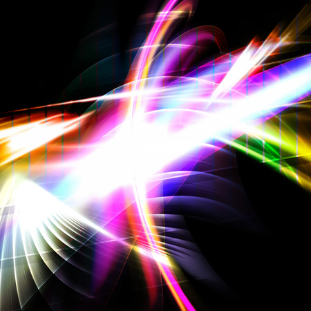 rainbow abstract: A glowing fractal design that works great as a background or backdrop.