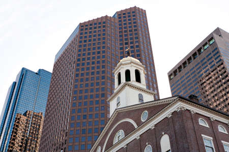 atop: Steeple atop Faneuil Hall a historic building found in Boston Massachusetts.
