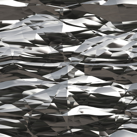 silver texture: A wrinkled tinfoil texture that works great as a background. Stock Photo