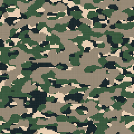 corps: Brown desert colored military camouflage texture that tiles seamlessly as a pattern in any direction. Stock Photo