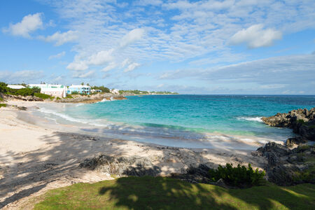 View of John Smiths Bay Beach located on the island of Bermuda.   photo