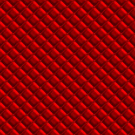 Red padded upholstery pattern illustration that tiles seamlessly in any direction.