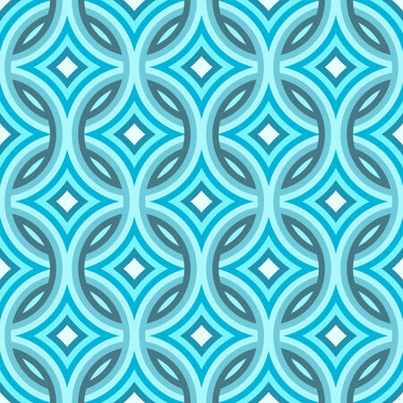Blue damask pattern with diamond shapes which tiles seamlessly. Stock Photo
