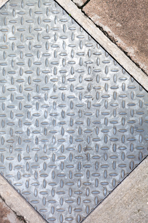 diamond plate: Closeup of real diamond plate metal material.