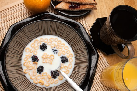 premenstrual: A bowl of alphabet cereal pieces floating in milk with the words BAD DAY spelled out. Stock Photo