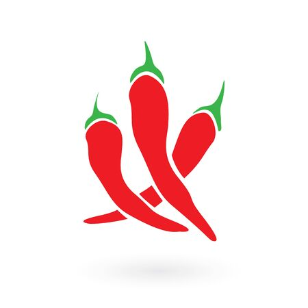 Illustration of some red chilli peppers that are used to make sriracha sauce.