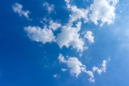 clound: Beautiful clound in blue sky for blackground