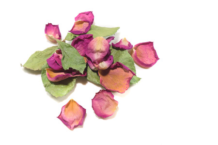 potpourri: Flowers composition of dried rose flowers. Valentines day. Dried rose petals close-up background