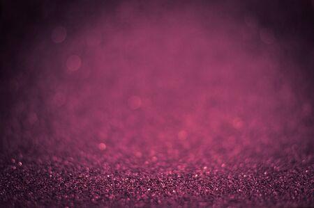 Rose Magic Shiny glitter decorative texture, metallic textured, metal material for holiday craft design decoration selected focus. Stock Photo
