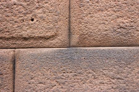 Close-up Detail of Inca Ashlar Wall Precise Stone Block Jointing, Cusco, Peru