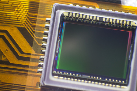 photoelectric: Camera sensor close up