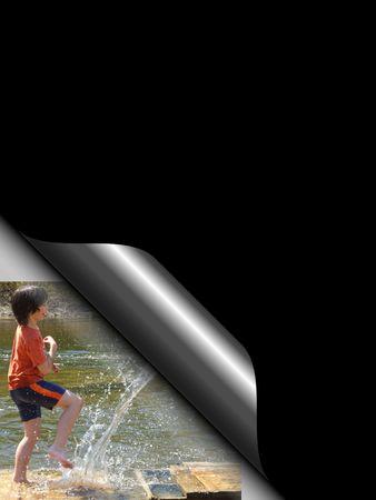 chłopięctwo: Endywii pionowe plakatu na czarnym tle.