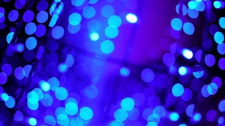 Blau Bokeh