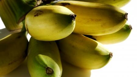 dainty: Fresh Dainty Banana Stock Photo