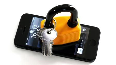 Key-und Master-Key auf Smart Phone. Lizenzfreie Bilder