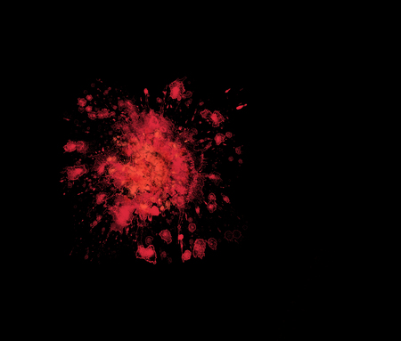 suffer: Isolated simple blood stain on black background