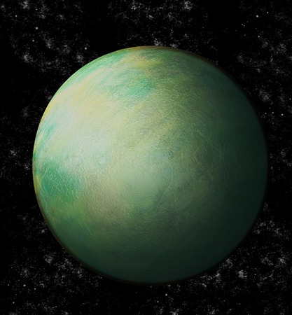 uranus: Green Uranus in space Stock Photo