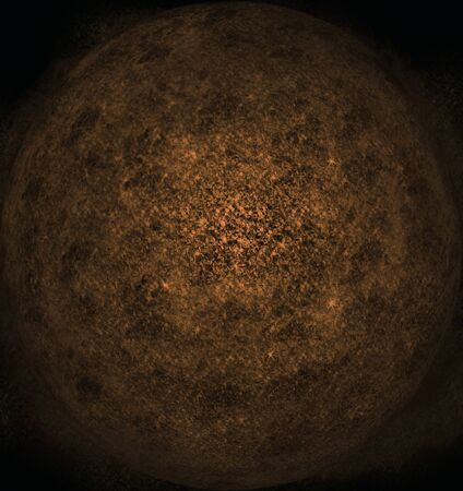 Planetary dust in space (blue) Stock Photo