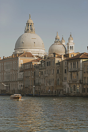 Unusual view of the Grand Canal in Venice Italy Stock Photo