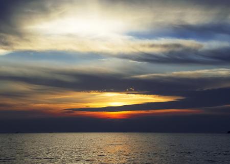 Colourful sunset over sea Stock Photo