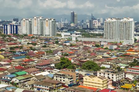 Aerial view of Petaling Jaya leading to Kuala Lumpur city centre